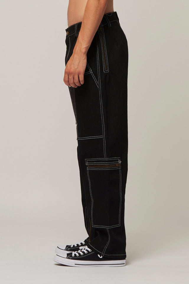Top Stitch Zip Jeans, Michiko Koshino - SWIM XYZ