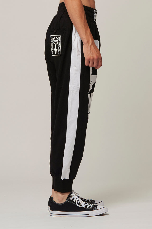 Jersey Graphic Tracksuit Bottoms