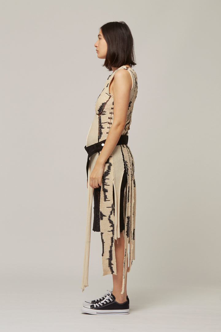 Knitted Silk and Raffia Panel Dress, Kepler - SWIM XYZ