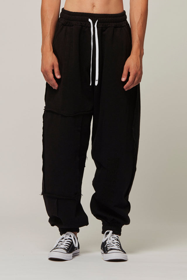 Raw Edge Panel Tracksuit Bottoms