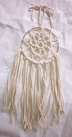 "4.5"" Cream Dreamcatcher"