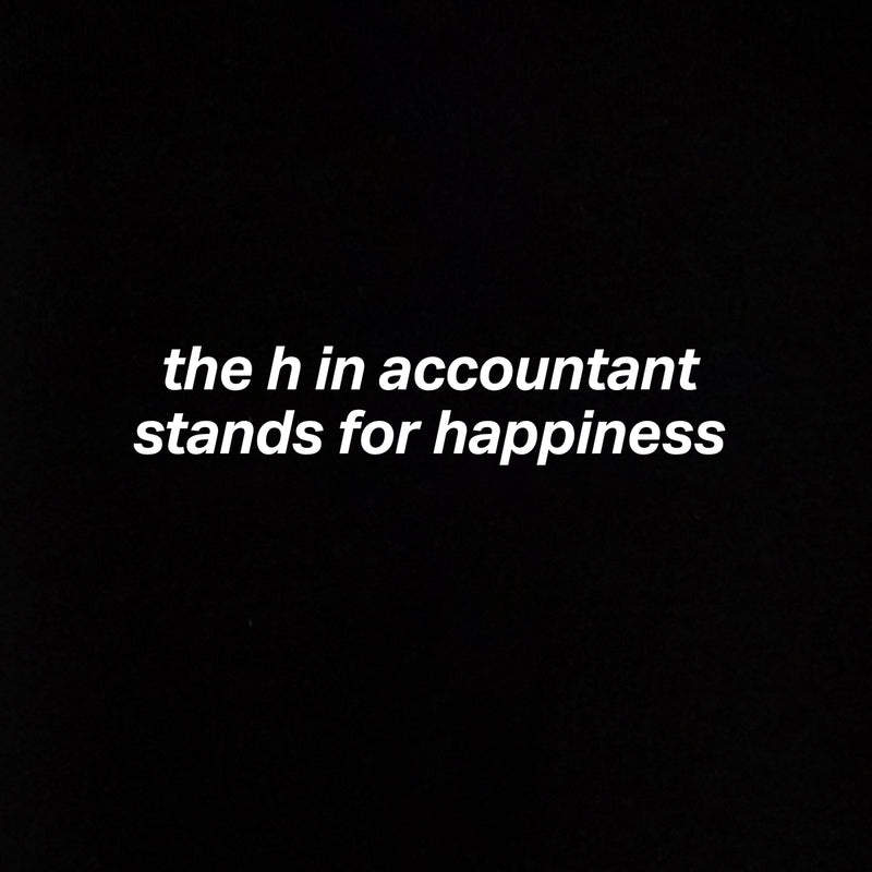 The 'H' in Accountant Hoodie