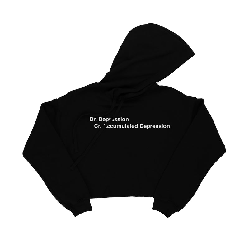 Dr. Depression Cr. Accumulated Depression Cropped Hoodie