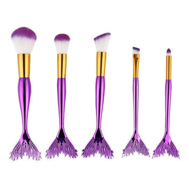 5Pcs Marbling Makeup Brushes Set Powder Foundation Eyeshadow Cosmetic Tools Marble Texture Makeup Brush Eyes Concealer Brush