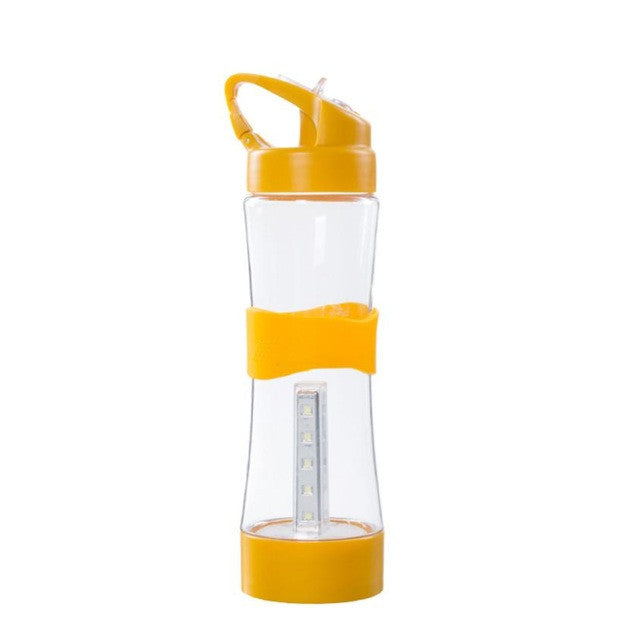 Outdoor Camp Portable Water Bottle 500mL BPA Free Leakproof Sports Lighting Bottle Multifunction Travel tools  #EW