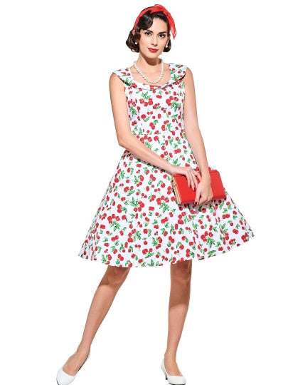 Sweet Peter Pan Collar A-Line Women's Day Dress