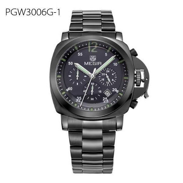 Men Top Brand Luxury Watches Clock Stainless Steel Quartz Wristwatches