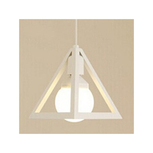 Vintage Industrial Triangle Pendant Light Chandelier Ceiling Lamp with White Line