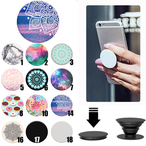 Multi-Function Holder Expanding Stand Grip Pop Socket Mount  For Smartphones