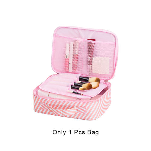 Flamingos Cosmetic Storage Bag Women's Travel Wash Toiletry Organizer Pouch Makeup Case Wholesale Accessories Supplies Products