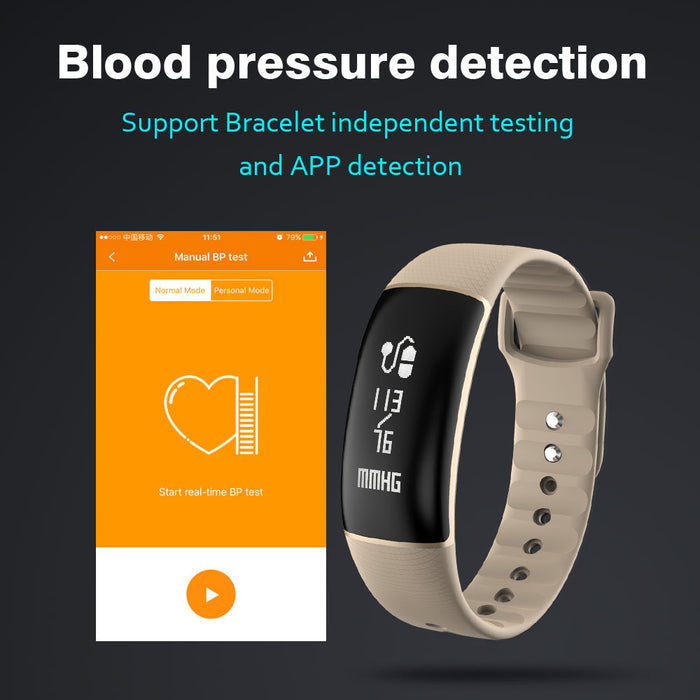 Mini Style Wireless Bluetooth IP67 Waterproof A69 Bluetooth Smart Bracelet Watch Wristband Support Blood Pressure Monitor/Heart Rate Monitor/Pedometer/Sleep Monitor/Calorie/Remote Camera/SMS Pushfor IOS & Android Smartphone