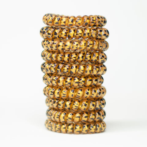 300 Leopard Hair Ties - Set of 10