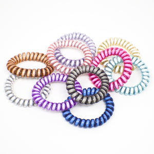 032 Reflective Hair Ties - Bulk set of 10