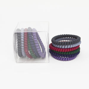 131 Skinny Dark Matte hair ties set of 6