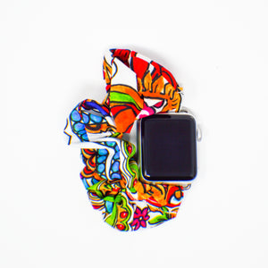 #2 Bright Paisley Scrunchie Watch Band