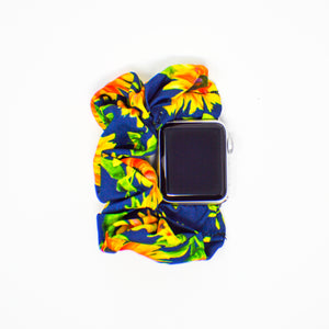 #4 Sunflower Scrunchie Apple Watch Band