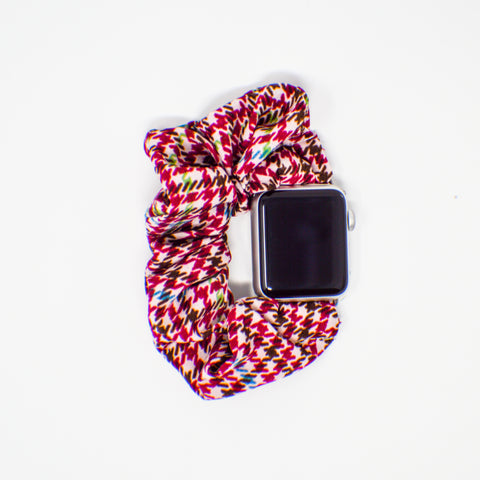 Plaid Scrunchie Watch Band