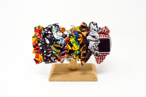 #9 Solid Black Scrunchie Apple Watch Band