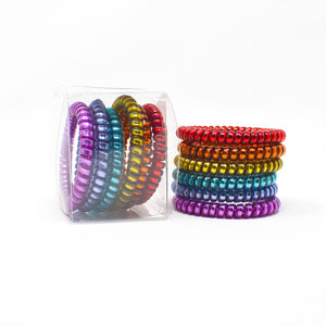 105 Skinny Jewels Hair Ties - Set of 6
