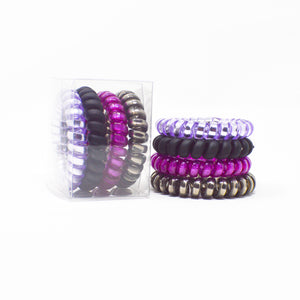 107 Purple Rain Hair Ties - Set of 4