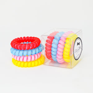 147 April Showers Bring May Flowers Hair Ties- Set of 4