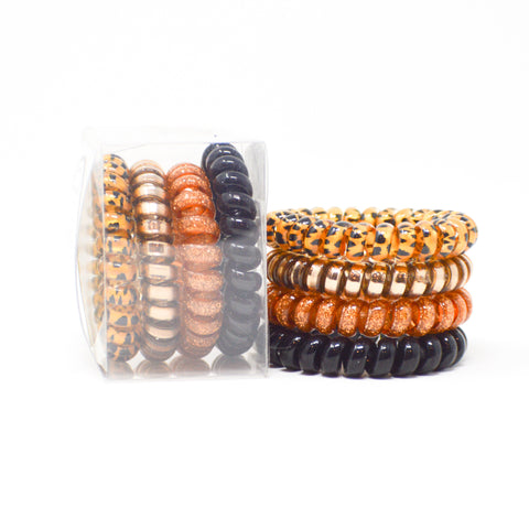 127 Glitter Safari Hair Ties set of 4