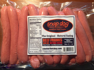 Natural Casing - Size 10-1 Beef Franks - 5 lb Pack