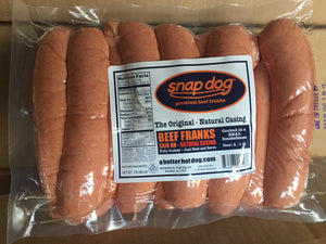 Natural Casing - Size 4-1 Beef Franks - 5 lb Pack
