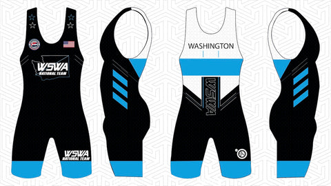 Women's 2019 Team Washington Blue Singlet