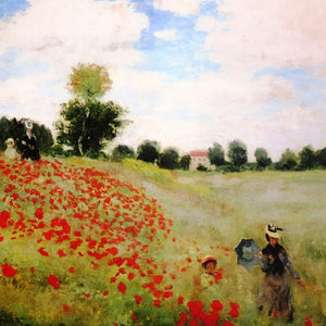 "alt=""The Poppy Field near Argenteuil, 1873 by Claude Monet"""