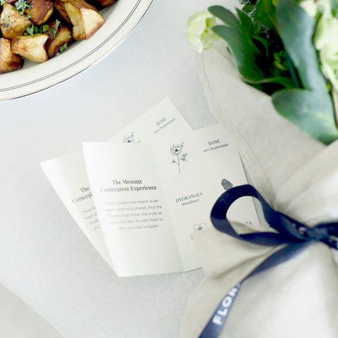 """alt=""""meaningful cards for the Floracracy Giftable Centerpieces"""""""