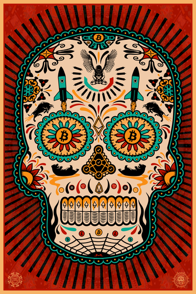 "Day of the Dead ""Dia de Muertos"" new Bitcoin art piece"