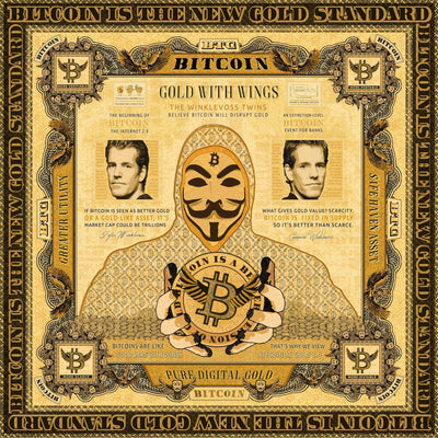 Gold With Wings (AudioVisual Bitcoin Art)
