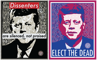 JFK Artwork - Dissenters & Elect the Dead
