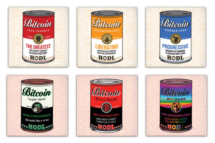 Warhol-inspired Bitcoin art