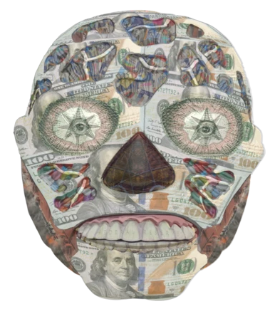 Banker Buddy mask by Lucho Poletti