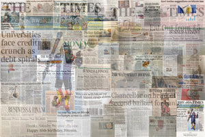 Bitcoin References the Times Collage by Lucho Poletti