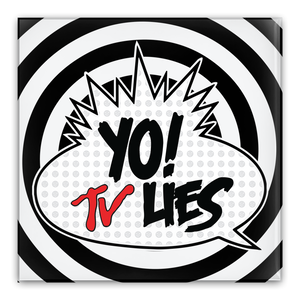 Yo! TV Lies [Metal pin buttons, Set of 5]