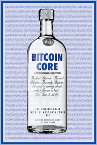 Bitcoin in a Bottle [Framed Print]