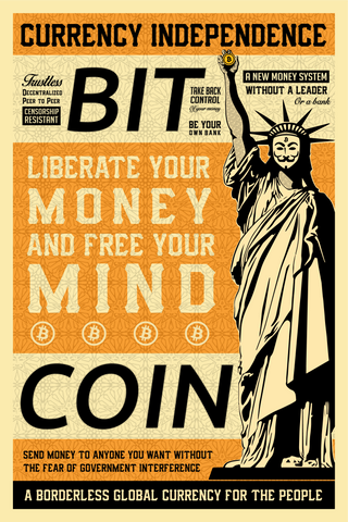Liberty in Bitcoin - HODL CRYPTO ART