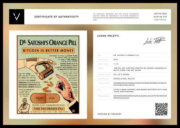 Dr. Satoshi's Orange Pill Collector's Edition
