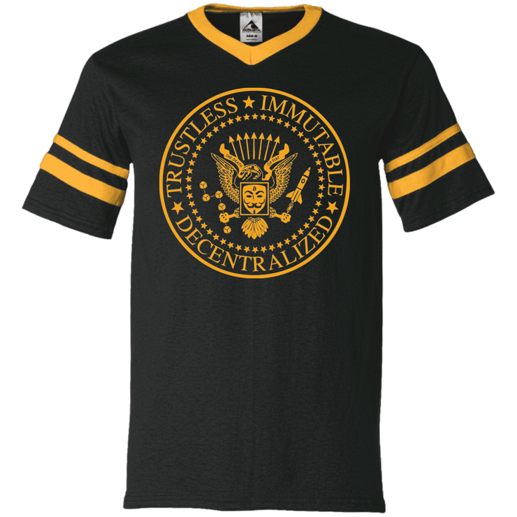Bitcoin Ramones redux [Mens Striped Jersey]