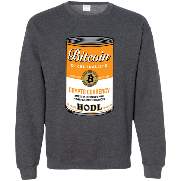 Bitcoin Can Sweatshirt - HODL CRYPTO ART