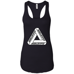 Illusion Ladies Racerback - HODL CRYPTO ART