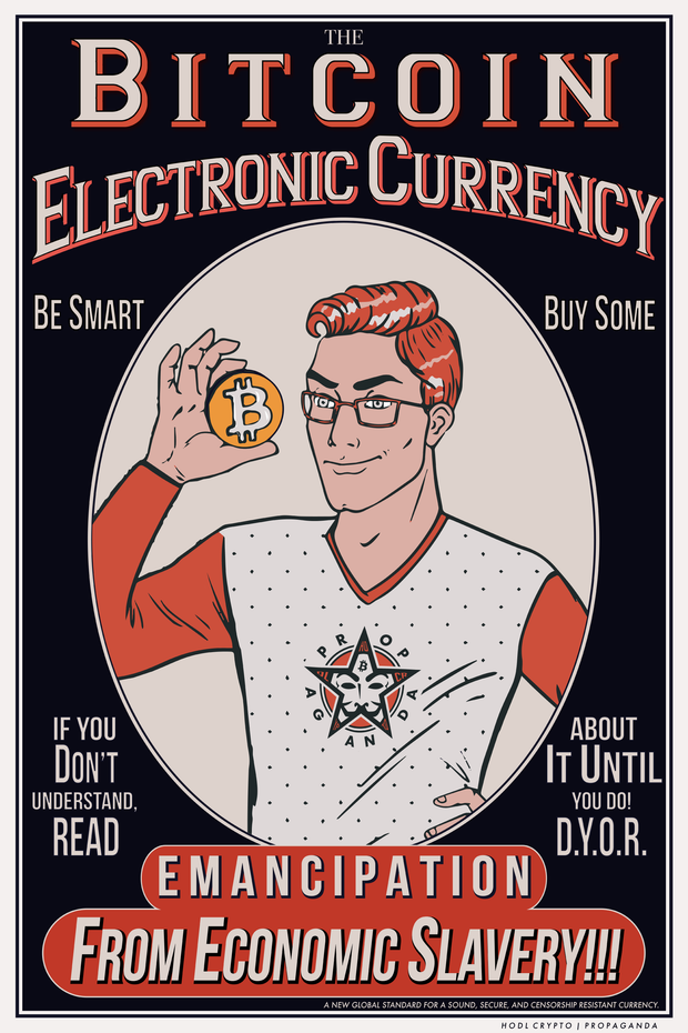 Electronic Currency Poster