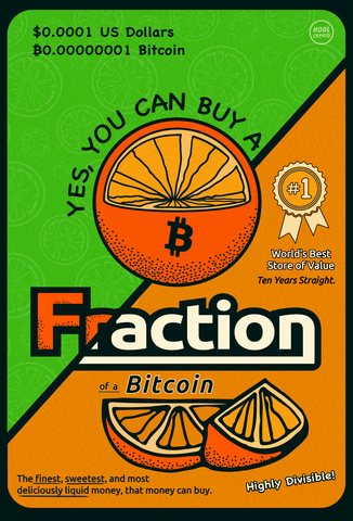 Fraction of a Bitcoin [Canvas print]