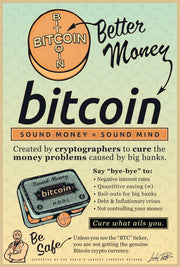 Sound Money = Sound Mind (Dr. Satoshi Variant) Fine Art Print