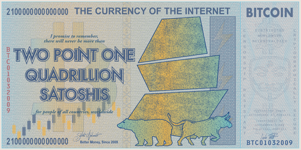 2.1 Quadrillion Satoshis Fine Art Print