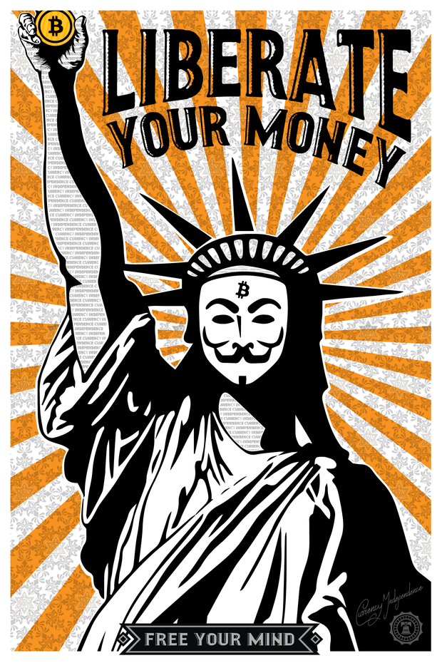 Liberate your money - HODL CRYPTO ART