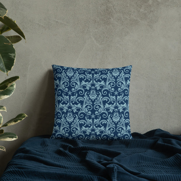 Victorian Blue Bitcoin Pillow (Limited)